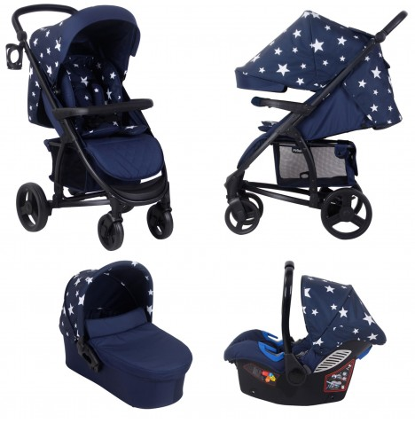 My Babiie MB200+ *Abbey Clancy Catwalk Collection* Travel System & Carrycot - Navy Stars