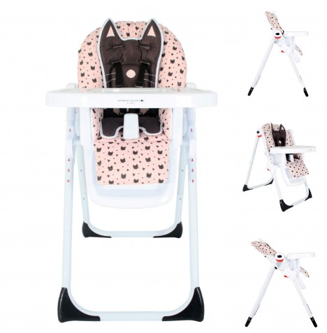 My Babiie MBHC8 *Abbey Clancy Catwalk Collection* Premium Highchair - Black Cats