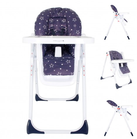 My Babiie MBHC8 *Abbey Clancy Catwalk Collection* Premium Highchair - Navy Stars