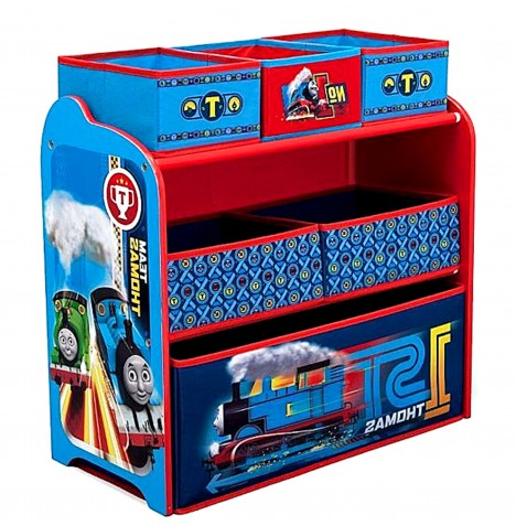 Delta Children Wooden Frame Multi-Bin Toy Organiser - Thomas The Tank Engine