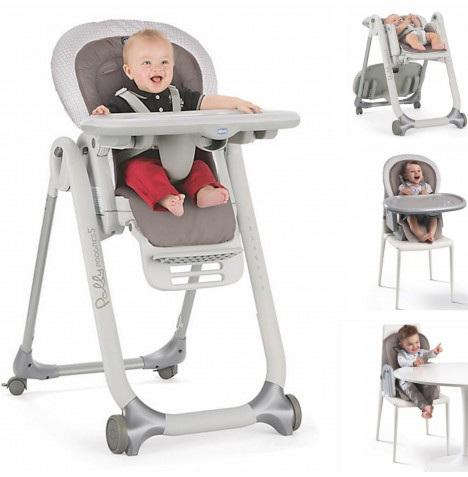 Chicco Polly Progres5 5 in 1 Highchair - Pois