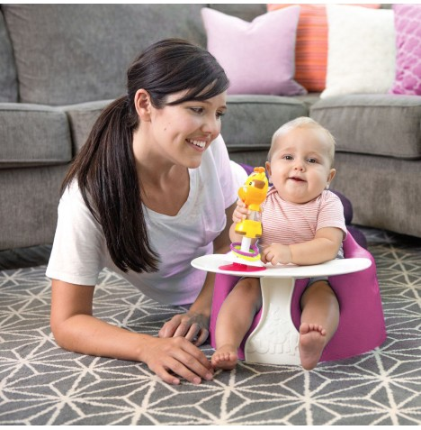 Bumbo Combo 2-in-1 (Floor Seat & Play Tray) - Magenta..