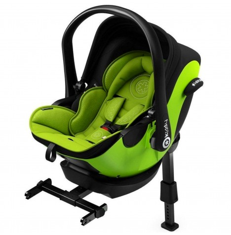 Kiddy Evoluna i-Size Car Seat With Isofix Base - Lime Green