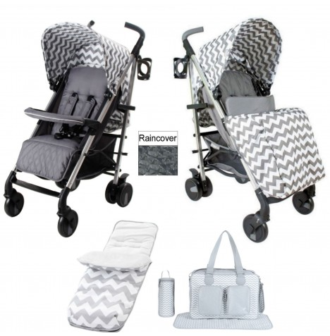 My Babiie MB51 Stroller Bundle - Grey Chevron
