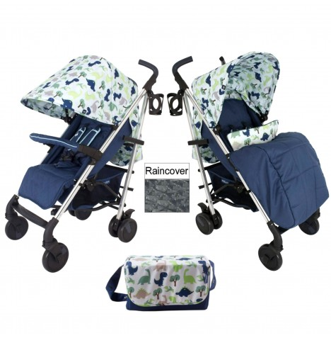 My Babiie MB51 Stroller & Changing Bag - Dinosaur