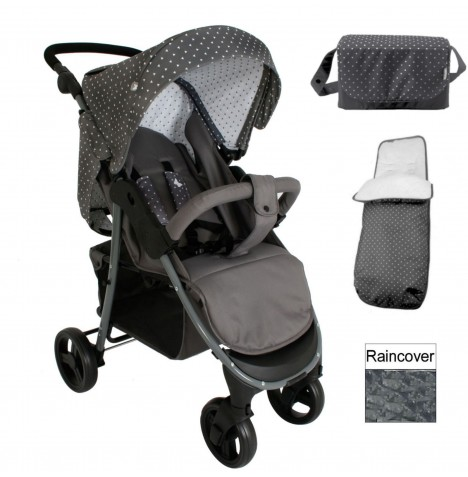 My Babiie MB30 Pushchair Bundle *Katie Piper Believe Range* - Grey Triangles