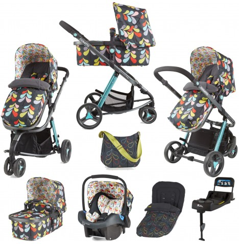 Cosatto Giggle 2 Travel System & Isofix Base - Nordik Grey