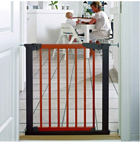 Babydan Avantgarde Indicator Gate (71 to 77cm) - Black / Cherry