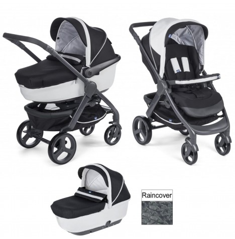 Chicco Trio StyleGo Pushchair & Carrycot - Black Night