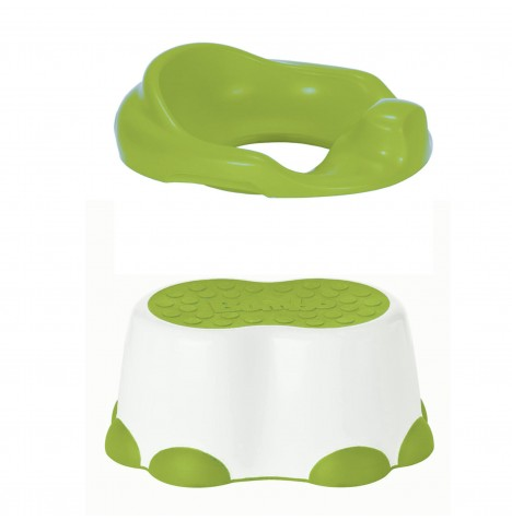 Bumbo 2 in 1 Toilet Trainer & Step Stool - Lime