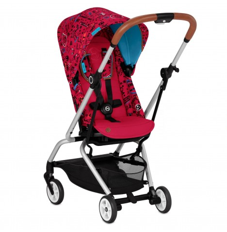 Cybex Eezy S Twist Gold Fashion Edition 360° Rotating Pushchair Stroller - Love Red