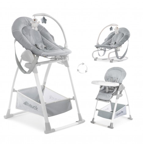 Hauck Sit n Relax 3 in 1 Highchair - Stretch Grey