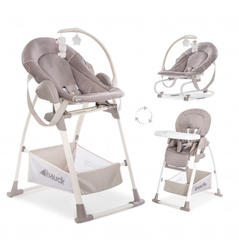 Hauck Sit n Relax 3 in 1 Highchair - Stretch Beige