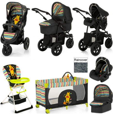 Hauck Viper Everything You Need Travel System & Carrycot Bundle - Pooh Tidy Time