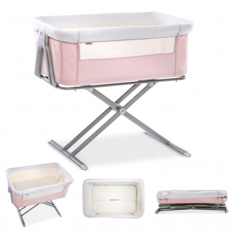 Hauck Face To Me Bedside Crib - Pink