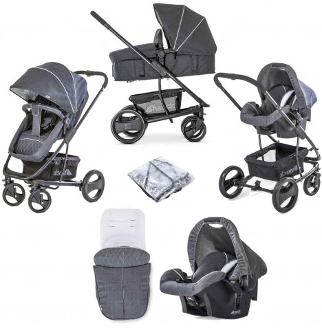 Hauck Pacific 4 Shop n Drive Travel System - Melange Charcoal