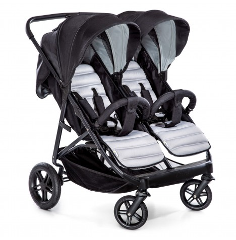 Hauck Rapid 3R Duo Twin / Double Pushchair - Silver / Charcoal