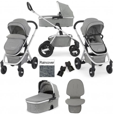 Nuna Ivvi Savi Pushchair With Carrycot & Footmuff - Frost