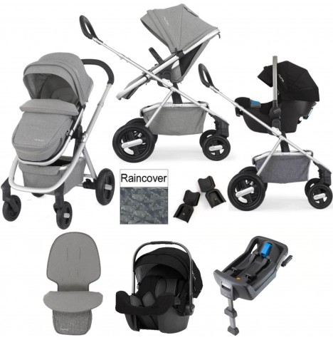 Nuna Ivvi Savi Pipa Icon Travel System With Isofix Base - Frost