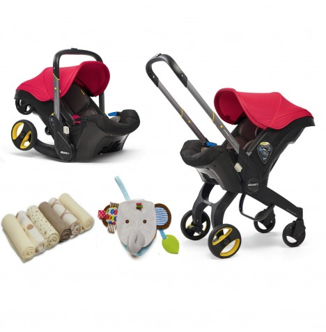 Doona Infant Car Seat / Stroller & Accessories - Flame Red