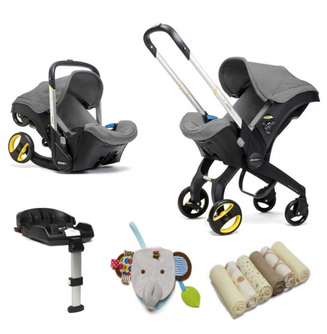 Doona Infant Car Seat / Stroller With Isofix Base & Accessories - Storm Grey