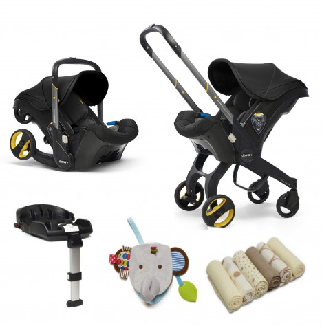 Doona Infant Car Seat / Stroller With Isofix Base & Accessories - Nitro Black