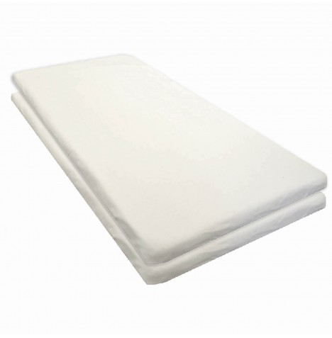 4baby Chicco Baby Hug Crib Fitted Sheet (Pack of 2) - White