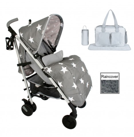 My Babiie MB51 *Billie Faiers Collection* Stroller Bundle  - Grey Stars