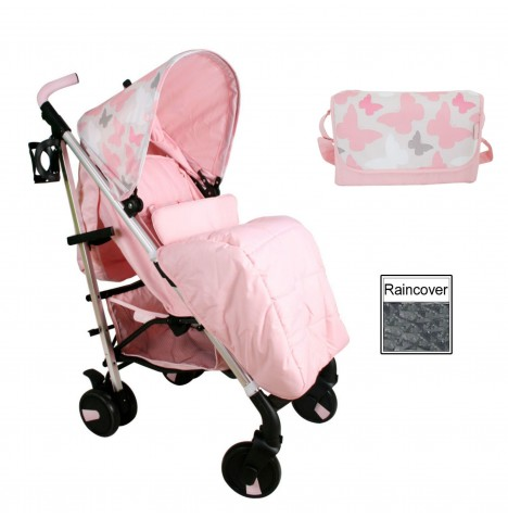 My Babiie MB51 *Katie Piper Collection* Stroller Bundle  - Pink Butterflies