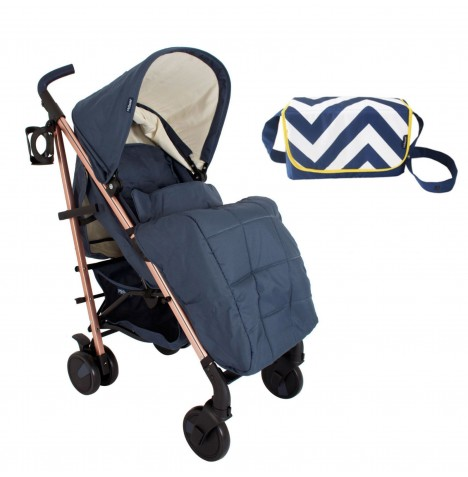 My Babiie MB51 *Billie Faiers Collection* Stroller Bundle  - Rose Gold & Navy