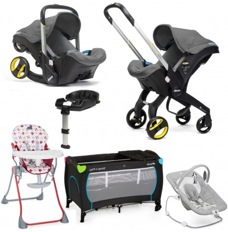 Doona Infant Car Seat / Stroller (With Isofix Base) Everything You Need Bundle - Storm