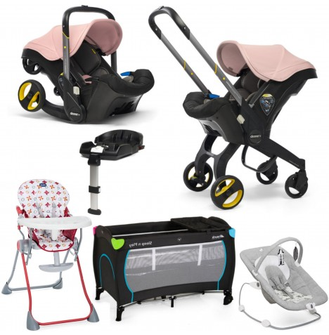 Doona Infant Car Seat / Stroller (With Isofix Base) Everything You Need Bundle - Blush Pink