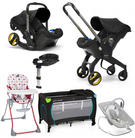 Doona Infant Car Seat / Stroller (With Isofix Base) Everything You Need Bundle - Nitro Black