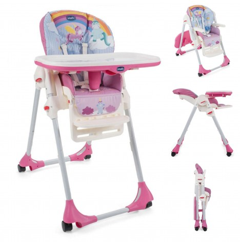 Chicco Polly Easy Highchair - Unicorn