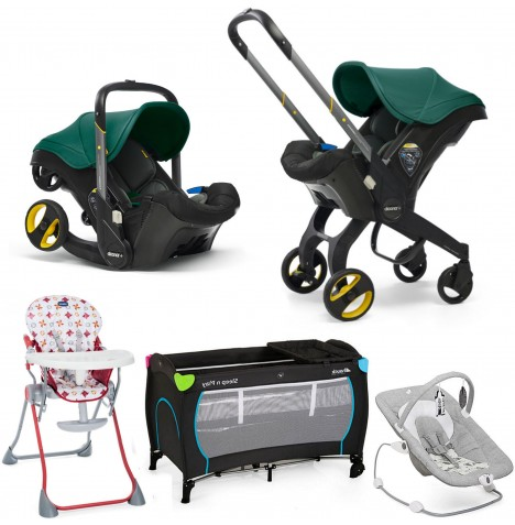 Doona Infant Car Seat / Stroller Everything You Need Bundle - Racing Green