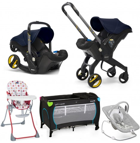 Doona Infant Car Seat / Stroller Everything You Need Bundle - Royal Blue