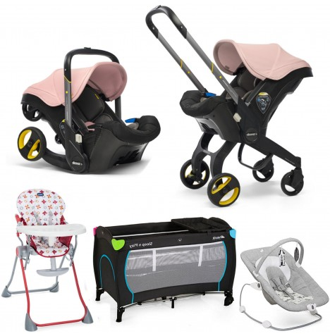 Doona Infant Car Seat / Stroller Everything You Need Bundle - Blush Pink