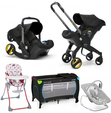 Doona Infant Car Seat / Stroller Everything You Need Bundle - Nitro Black
