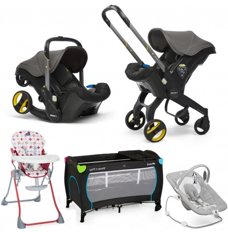 Doona Infant Car Seat / Stroller Everything You Need Bundle - Greyhound