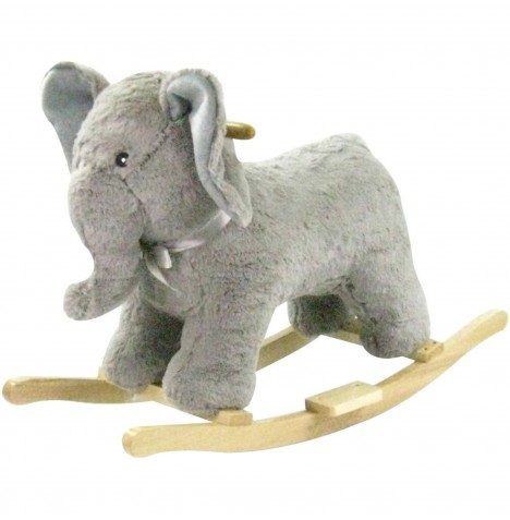 Cuddles Collection Rocking Elephant - Grey