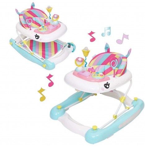 My Child Unicorn 2 In 1 Musical Baby Walker / Rocker - Rainbow