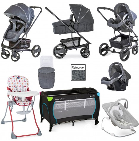 Hauck Pacific 4 Everything You Need Travel System Bundle - Melange Charcoal