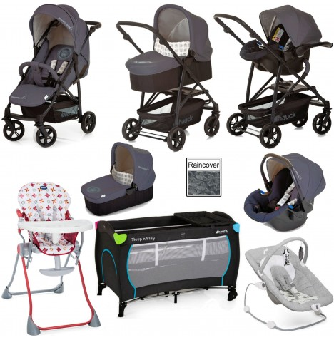 Hauck Rapid 4X Everything You Need Travel System Bundle - Mickey Cool Vibes
