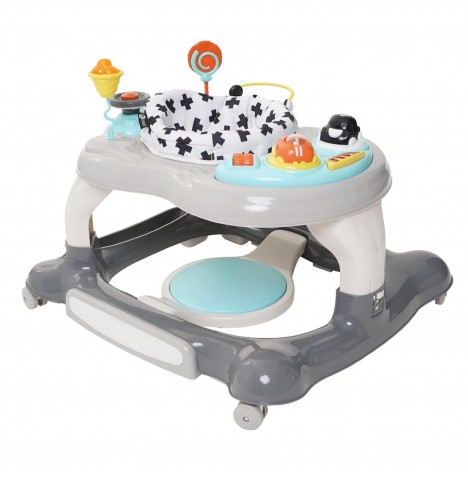 My Child Roundabout 360 Degree 4 In 1 Baby Walker / Rocker - Grey / White