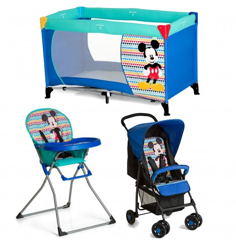 Hauck Disney Sport Everything You Need Matching Pushchair Bundle - Mickey Geo Blue