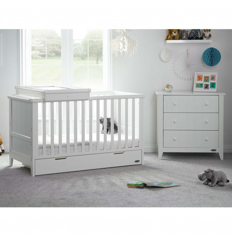 Obaby Belton 2 Piece Nursery Room Set - White
