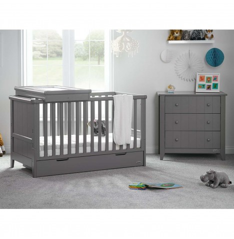Obaby Belton 2 Piece Nursery Room Set - Taupe Grey