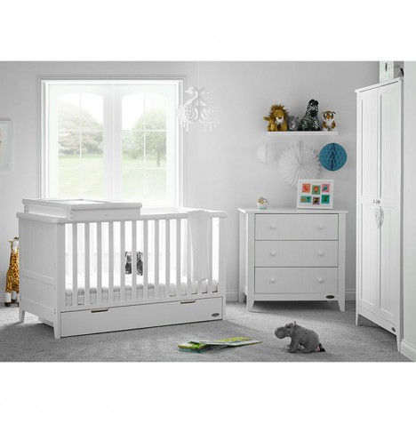 Obaby Belton 3 Piece Nursery Room Set - White