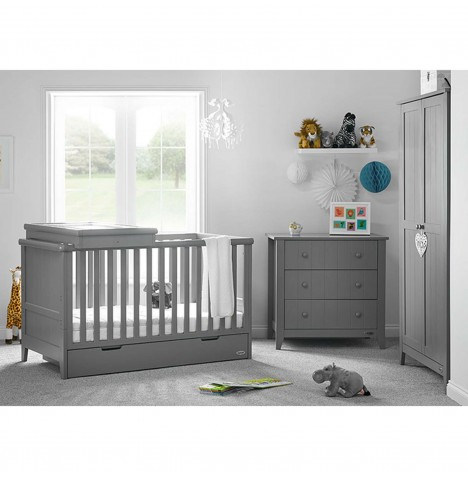 Obaby Belton 3 Piece Nursery Room Set - Taupe Grey