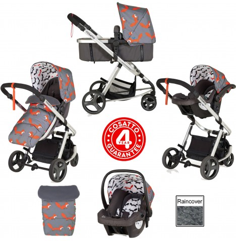 Cosatto Giggle Mix Pramette Travel System - Mister Fox..